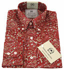 Relco PLATINUM COLLECTION Red Paisley Long Sleeved Shirt NEW Mod Vintage Retro