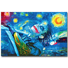 Joker - Psychedelic Trippy Art Silk Poster Print 12x18 24x36 inch Starry Night
