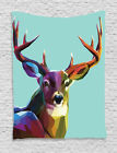 Modern Style Image Deer Abstract Triangle Retro Art Print Wall Hanging Tapestry