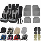 UAA Flex Carpeted VAN Rubber Mats & Dual-Stitch Racing Polyester Seat Covers Set