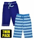 Baby Boys Soft Cotton Plain & Stripe Elasticated Waist Twin Pack Short Set.6-24