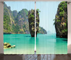 James Bond Island at Tropical Heaven Cruise of Life Photo Curtain 2 Panels Set $94.16 CAD