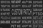 Patch Reflective Label Tag for Dog Harness Vest Service Therapy Emotional