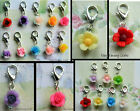 FLOWER FLORAL ROSE DAISY CLIP-ON CHARM FOR LIVING LOCKETS BRACELETS ETC