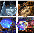 400 LED Colorful Indoor Outdoor String Fairy Lights Clear Cable Party UK Plug