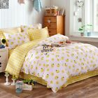 Yellow Quilt Doona Cover Set 100% Cotton Double Queen King Bed Size New Duvet