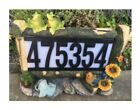 Outdoor Garden Solar Plaque House Home Street Address Light Number Letter 3 LEDs