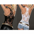 Sexy Fashion Womens Summer Casual Lace Vest Tops Tank T-Shirt Blouse Camisol Hot