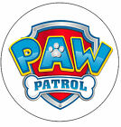 PAW PATROL LOGO Edible Wafer Icing Cake Topper * PRE CUT *