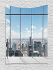 View From Modern Skyscraper City Contemporary Urban Decor Wall Hanging Tapestry