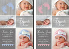 Premium Personalised New Baby Photo Thank You Cards Boy Girl Birth Announcement