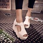Women Peep Open Toe Wedge Platform High Heel Gladiator Boot Chunky Sandals Shoes