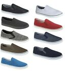 Mens BOSTON Slip On Canvas Shoes Pumps Plimsolls Trainers Casual Fashion Sneaker