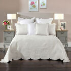 Candace Silver Damask Bedspread Set OR Accessories by Bianca image