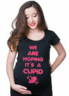 Valentine's Day Pregnancy T-shirt We are hoping it's a Cupid Maternity Tee