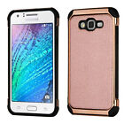 For Samsung GALAXY J7 Leather Hybrid Rubber Silicone Protective Hard Case Cover фото