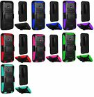 Holster Clip + Hybrid Phone Cover Case For Alcatel Ideal 4060a GoPhone