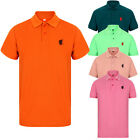 NEW MENS POLO SHIRT TOP SHORT SLEEVE PIQUE TIPPED DESIGNER PLAIN T-SHIRT TEE