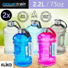 2x 2.2L Jumbo Enviro Drink Water Bottle Shaker BPA Free Workout Gym Running