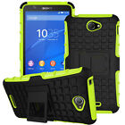 Heavy Duty Rugged Shockproof Hybrid Stand Hard Case Cover For Sony Xperia Phones