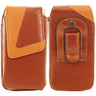 Universal Brown Belt Pouch Case Cover Holster Bag for iPhone Samsung all Mobiles