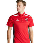 Men's Ulster Rugby Performance Polo Shirt - Red/Charcoal (2016-2017)