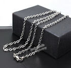 """Wholesale 12pcs Unisex 316L Stainless Steel Oval Chain Necklace 2.4mm 16""""-30"""""""