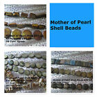 Mother of Pearl Shell Beads Blue Brown Spacer Jewelry Beads