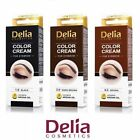 DELIA HENNA PROFESSIONAL EYEBROW cream TINT COLOR SET Black,DARK BROWN,BROWN
