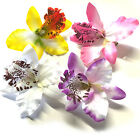 New Orchid Flower Floral Hair Clips. Bridal Wedding Bridesmaids Accessory 8cm