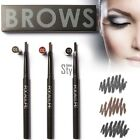 3 Colors Women Professional Waterproof Auto Dual Eyebrow Pencil & Brush TXST