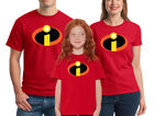 The Incredibles T-shirt Disney Family Halloween Costume Shirts Adult Kid cosplay