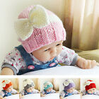 Cute Newborn Baby Girls Infant Toddler Crochet Knit Bow Warm Cap Beanie Cap Hat