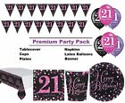 Pink Sparkling 21st Birthday 8-48 Guest Premium Party Pack Tableware Decorations