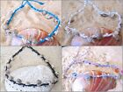 BEADED ANKLET BRACELET FRIENDSHIP WHITE COTTON SHELL WOMEN BEACH SURF GIRL NEW