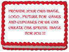 ANY IMAGE PHOTO YOUR OWN Edible image Frosting cake topper decoration