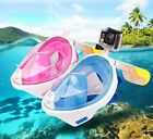Quality Swimming Diving Dry Snorkel Scuba Full Face Mask Camera for Adult Kids