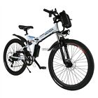 """26"""" Folding Electric Mountain Bike Off-Road Bicycle Ebike Lithium Battery"""