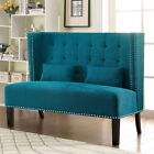 Amora Fabric Finish Wing Back Bench