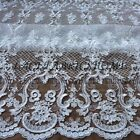 Ivory robin embroidered wedding dress lace fabric 51'' width by yard