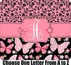 New Large Soft Personalized Butterfly Floral Mouse Pad Pink ONE LETTER MONOGRAM