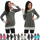 Purpless Maternity Pregnancy Nursing Hoodie With Cross Over Neckline Top 9056