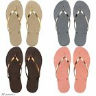Havaianas You Metallic Women's Flip Flops with small heel. New