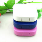 Portable Contact Lens Case Container Travel Kit Set Holder Mirror Box Natural