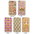 Funny Emoji Pattern Phone Case Cover for iPhone 5/5S/6/6S/6Plus/SE Natural