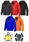 Motorcycle Kevlar Hoodie Hoody Full Protective Armour Lined Fleece XS - 5XL