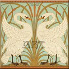 Внешний вид - Art Nouveau Reproduction Decorative Ceramic tile 103