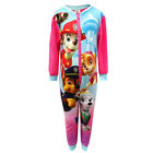 New Girls Official Paw Patrol All In One Microfleece 1Onesie Romper 1-5 Yrs