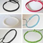 BRACELET BLACK COTTON BAND ADJUSTABLE ANKLET FRIENDSHIP MEN WOMEN BOHO SURF NEW