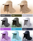 Unisex Fishing Hat Cap Face Protector Neck Cover Sun Protection Jungle New CS